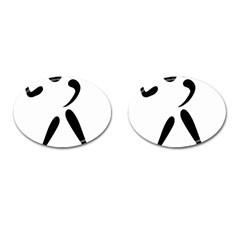 American Football Pictogram  Cufflinks (oval) by abbeyz71