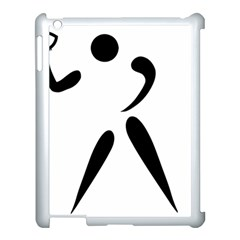American Football Pictogram  Apple Ipad 3/4 Case (white) by abbeyz71