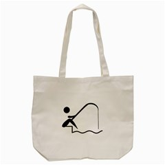 Angling Pictogram Tote Bag (cream) by abbeyz71