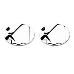 Angling Pictogram Cufflinks (oval) by abbeyz71