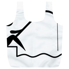 Angling Pictogram Full Print Recycle Bags (l)  by abbeyz71