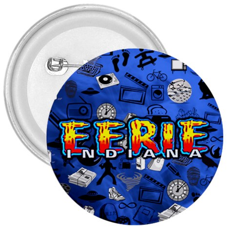 Eerie, Indiana Logo Badge By Superiorheg   3  Button   3yjqme351etb   Www Artscow Com Front