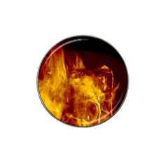 Ablaze Abstract Afire Aflame Blaze Hat Clip Ball Marker (10 Pack) by Amaryn4rt