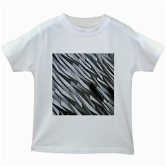 Abstract Background Geometry Block Kids White T Shirts by Amaryn4rt