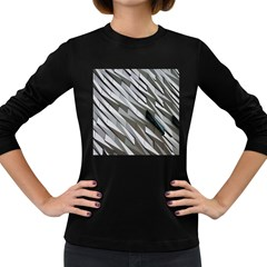 Abstract Background Geometry Block Women s Long Sleeve Dark T Shirts by Amaryn4rt