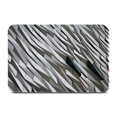 Abstract Background Geometry Block Plate Mats by Amaryn4rt