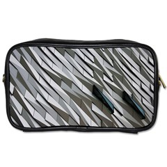 Abstract Background Geometry Block Toiletries Bags 2 Side by Amaryn4rt