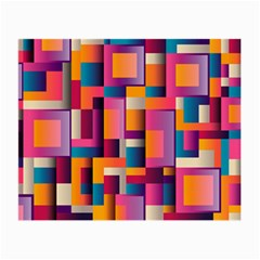 Abstract Background Geometry Blocks Small Glasses Cloth by Amaryn4rt
