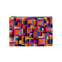 Abstract Background Geometry Blocks Cosmetic Bag (medium)