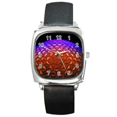 Abstract Ball Colorful Colors Square Metal Watch by Amaryn4rt