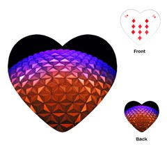 Abstract Ball Colorful Colors Playing Cards (heart)  by Amaryn4rt