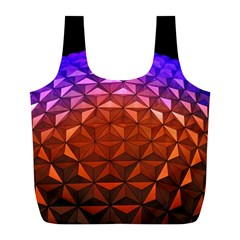 Abstract Ball Colorful Colors Full Print Recycle Bags (l)  by Amaryn4rt