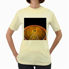 Abstract Blur Bright Circular Women s Yellow T Shirt by Amaryn4rt