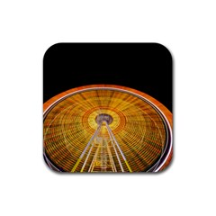 Abstract Blur Bright Circular Rubber Square Coaster (4 Pack)  by Amaryn4rt