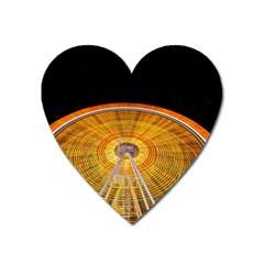 Abstract Blur Bright Circular Heart Magnet by Amaryn4rt