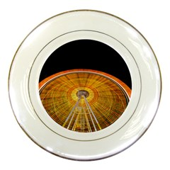 Abstract Blur Bright Circular Porcelain Plates by Amaryn4rt