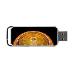 Abstract Blur Bright Circular Portable Usb Flash (two Sides) by Amaryn4rt
