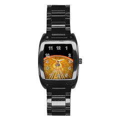 Abstract Blur Bright Circular Stainless Steel Barrel Watch by Amaryn4rt