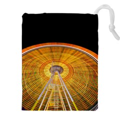 Abstract Blur Bright Circular Drawstring Pouches (xxl) by Amaryn4rt