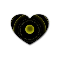Abstract Futuristic Lights Dream Heart Coaster (4 Pack)  by Amaryn4rt