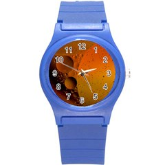 Abstraction Color Closeup The Rays Round Plastic Sport Watch (s) by Amaryn4rt
