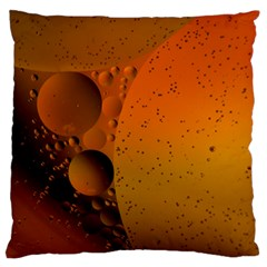 Abstraction Color Closeup The Rays Large Flano Cushion Case (one Side) by Amaryn4rt