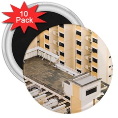 Apartments Architecture Building 3  Magnets (10 Pack)  by Amaryn4rt