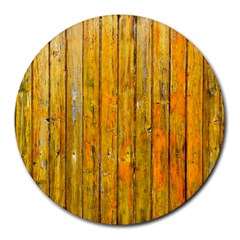Background Wood Lath Board Fence Round Mousepads by Amaryn4rt