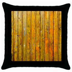 Background Wood Lath Board Fence Throw Pillow Case (black) by Amaryn4rt