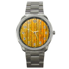 Background Wood Lath Board Fence Sport Metal Watch by Amaryn4rt