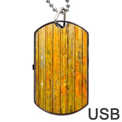 Background Wood Lath Board Fence Dog Tag Usb Flash (one Side) by Amaryn4rt