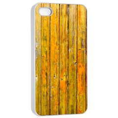 Background Wood Lath Board Fence Apple Iphone 4/4s Seamless Case (white)