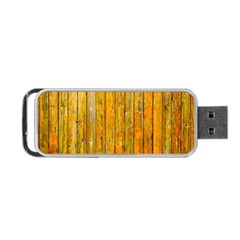 Background Wood Lath Board Fence Portable Usb Flash (one Side) by Amaryn4rt