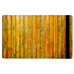 Background Wood Lath Board Fence Apple Ipad 2 Flip Case by Amaryn4rt
