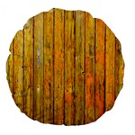 Background Wood Lath Board Fence Large 18  Premium Round Cushions Front