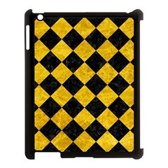 Square2 Black Marble & Yellow Marble Apple Ipad 3/4 Case (black) by trendistuff