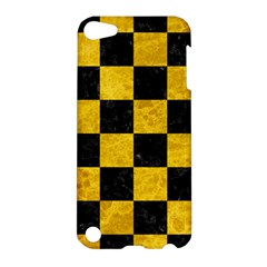 Square1 Black Marble & Yellow Marble Apple Ipod Touch 5 Hardshell Case by trendistuff