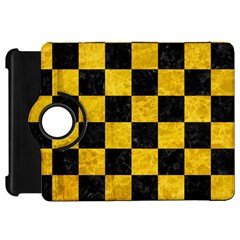Square1 Black Marble & Yellow Marble Kindle Fire Hd Flip 360 Case by trendistuff