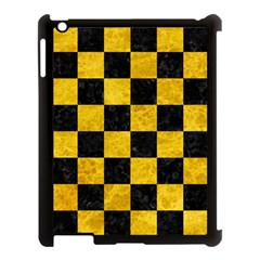 Square1 Black Marble & Yellow Marble Apple Ipad 3/4 Case (black) by trendistuff