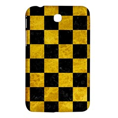 Square1 Black Marble & Yellow Marble Samsung Galaxy Tab 3 (7 ) P3200 Hardshell Case  by trendistuff