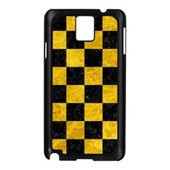 Square1 Black Marble & Yellow Marble Samsung Galaxy Note 3 N9005 Case (black) by trendistuff