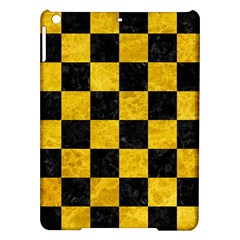 Square1 Black Marble & Yellow Marble Apple Ipad Air Hardshell Case by trendistuff