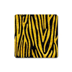 Skin4 Black Marble & Yellow Marble (r) Magnet (square) by trendistuff