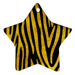 Skin4 Black Marble & Yellow Marble (r) Star Ornament (two Sides) by trendistuff