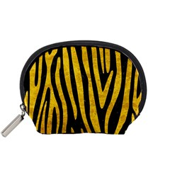 Skin4 Black Marble & Yellow Marble (r) Accessory Pouch (small) by trendistuff