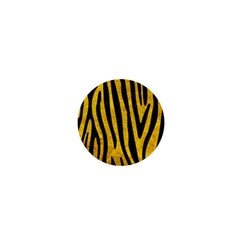 Skin4 Black Marble & Yellow Marble 1  Mini Magnet by trendistuff