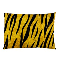 Skin3 Black Marble & Yellow Marble (r) Pillow Case by trendistuff