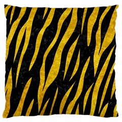 Skin3 Black Marble & Yellow Marble Large Cushion Case (two Sides) by trendistuff