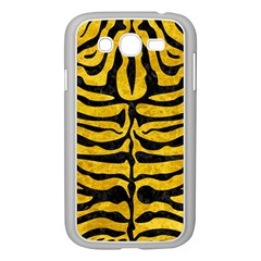 Skin2 Black Marble & Yellow Marble (r) Samsung Galaxy Grand Duos I9082 Case (white) by trendistuff