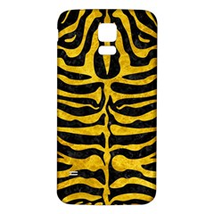 Skin2 Black Marble & Yellow Marble Samsung Galaxy S5 Back Case (white) by trendistuff